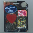2002 American Idol Novelty Memorabilia First Season Pins and Patch NIP