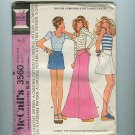 Vintage Mod 1973 Sewing Wide Leg Pants Pattern McCalls 3560 Size 10 UNCUT