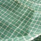 Vintage Antique Homespun Nile Green Check Plaid Homespun Fabric Primitive! 31 inches wide