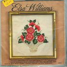 Vintage Silk Embroidery Kit Elsa Williams Peony Basket Floral