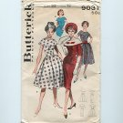 Cape Collar Dress Vintage UNCUT Sewing Pattern Butterick 9031 S12 (bust32)
