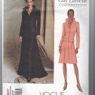 Vogue Guy Laroche Jacket Skirt Sewing Pattern 2607 Size 12-14-16 UNCUT