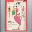 Disco Vintage Sewing Pattern Stirrup Pants, Bandeau Top Size S Simplicity 9271 UNCUT