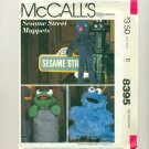Vintage Sesame Street Puppets Muppets Sewing Pattern UNCUT McCalls 8395