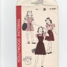 Vintage 40's Sewing Pattern Girl's Blouse Jumper Dorothy Oz Hollywood 538 UNCUT