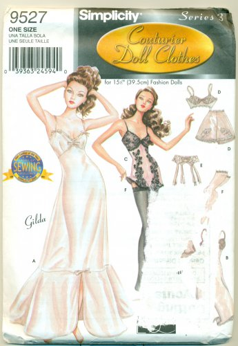 15½� Gene Doll SEXY LINGERIE COUTURIER SEWING PATTERN Simplicity 9527