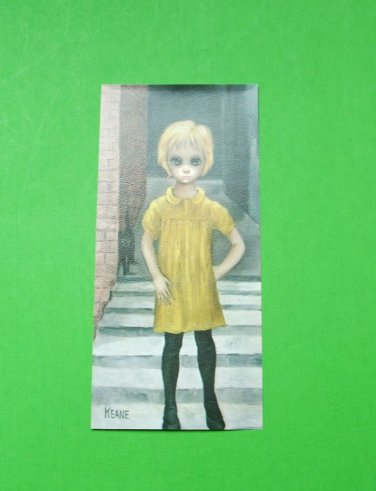 Vintage Walter Margaret Keane Print 60s Big-eyed BIG EYES Children Waifs Cat Kitty