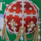 Vintage Jeweled Pearl Satin Ball Christmas Ornament Kit NIP