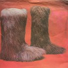 Fur Slippers Hippie Boots Vintage Sewing Pattern UNCUT Women's Medium 7-8
