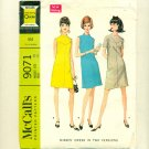 "Vintage Mod 1967 Dress Sewing Pattern McCalls 9071 Size 18 (Bust 40"") UNCUT"