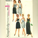 "Vintage Mad Men Dress Lace Overskirt 1965 Sewing Pattern Size 14 (bust 34"") Simplicity 6227 UNCUT"