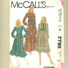 Vintage Sewing Pattern Boho Dress Size 12 (bust 34) McCall's 7795 UNCUT