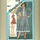 "80s Gunne Sax Prairie Dress Sewing Pattern Size 6 (bust  30 1/2"") Simplicity 5828 UNCUT"