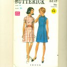 Vintage 60s Mod Wrap Dress UNCUT Sewing Pattern Size 14 (b 36, w 27) Butterick 5172
