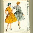 1950s Rockabilly Shirt Dress Vintage Sewing Pattern McCall's 4920 Size 14 (bust 34).