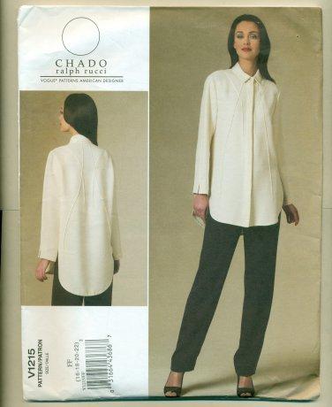 Vogue Chado Ralph Rucci Shirt Pants Sewing Pattern 1215 Size 16-22 UNCUT