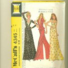 Vintage 1974 Mod Maxi Skirt, Bustier, Wide Pants Sewing Pattern McCalls 4345 Size 12 (bust 34) UNCUT