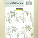 Costume Sewing Pattern Lace-Up Shirt Butterick 4486 Size XL-XXXL UNCUT