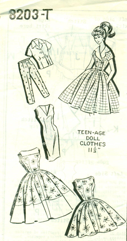 Vintage Kate Marchbanks Rockabilly Doll Pattern Mail Order UNCUT 8203-T