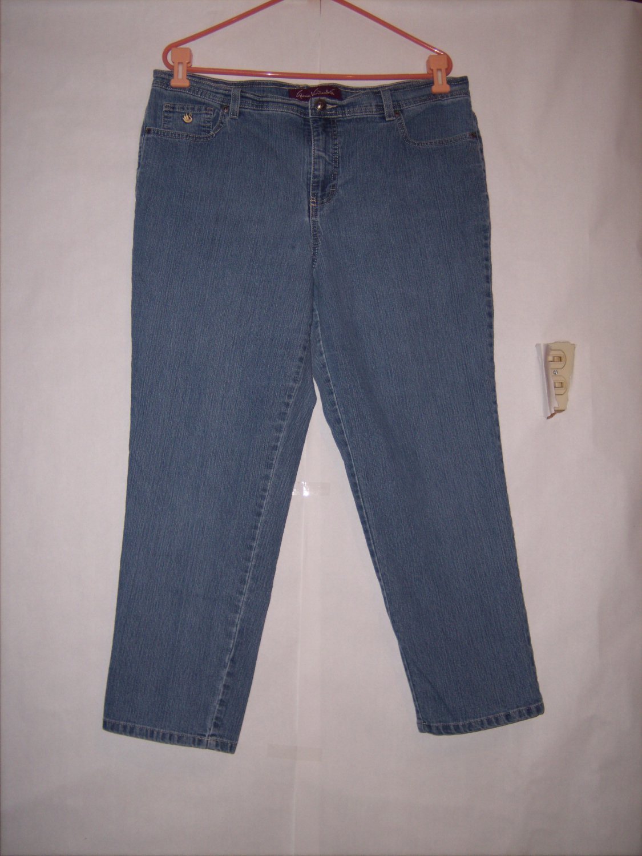 Gloria Vanderbilt Amanda Blue denim Jeans size 18W tappered Classic rise