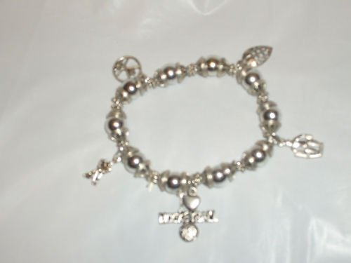 Sports Beaded Silver-toned Charm Bracelets NEW