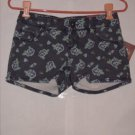 Mudd Flower print denim Short Shorts size 1 juniors NWT
