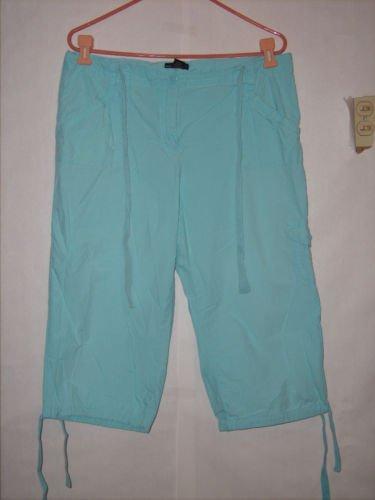 New York & Company Aqua Blue Pant Capris Size 14