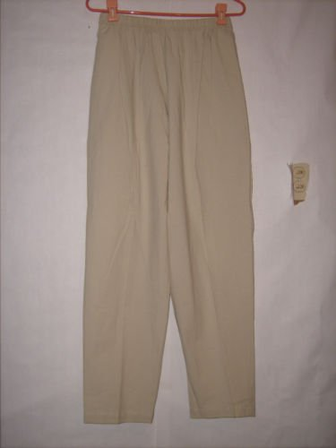 Sunbelt Beige Stretch Waist Dress Pants Size L
