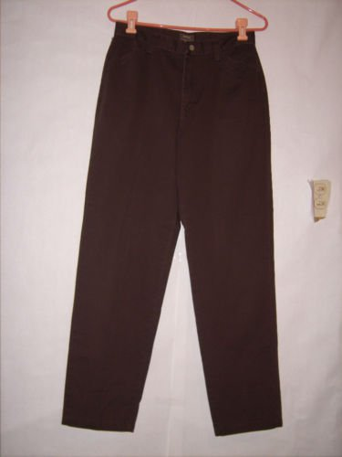 Riders Casuals Brown Flat Front Pants Size 8M