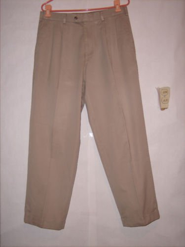 RGM Beige Khaki Pleated Dress Pants szie 34x30 EUC