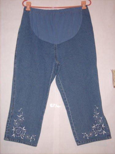 Oh Mamma Maternity Blue Denim Jean Capris size M