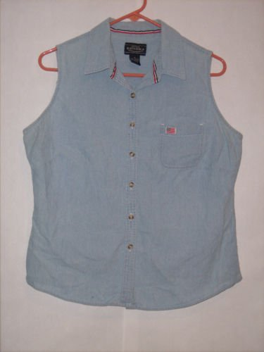 Sonoma Light Blue Denim Button Down Top Size XL