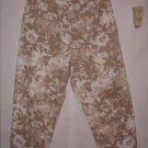 St. John's Bay Floral Print Pant Capris size 16 EUC