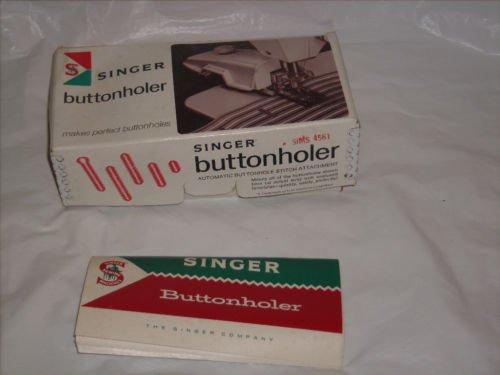 Vintage Singer Buttonholer machine w/ acc orig box EUC