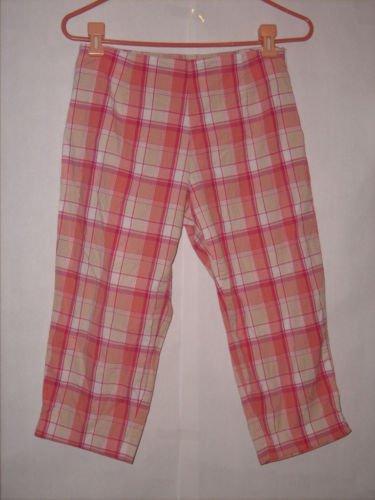 Mountain Lake Petite Pink Plaid Pant Capris Size 6P