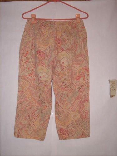 Villager Sport Pant Capris Size 8 Floral Print