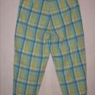 Mountain Lake Petites Plaid Pant Capris Size 4P