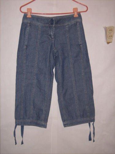 New York & Company Blue Denim Jean Capris Size 0