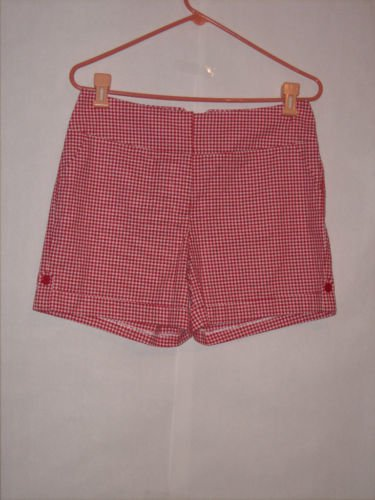 CATO Country red/white Checkered Dress Shorts size 8