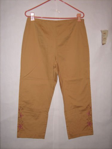 J.H. Collectibles Tan Pant Capris size 12 EUC