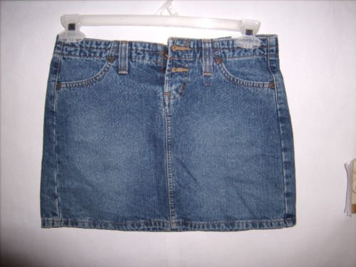 L.E.I. Blue Denim Short Jean Skirt size 3 Juniors