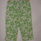 Girl's Christie Brooks Floral Print Capris Size 12