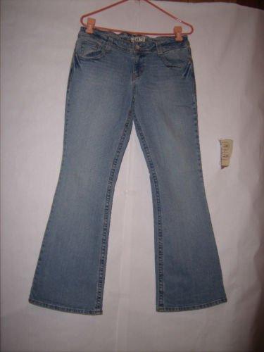 l.e.i Distressed Denim Boot Cut Jeans Size 13 Juniors