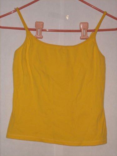 Copper Key Yellow Spaghetti strap Blouse Top Size M