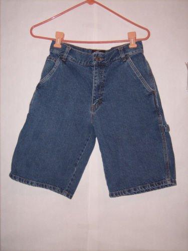 Boy's First Wave Blue Denim Jean Shorts Size 18