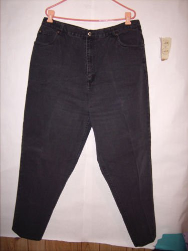 Carolina Blues Black Denim Jeans size 22 Tall EUC