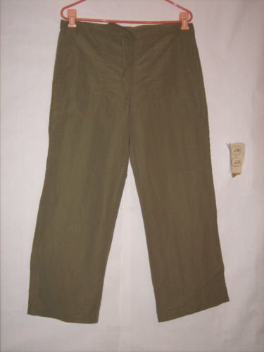 I.N. San Francisco Green Long Pant Capris Size 9 Junior