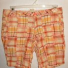 Arizona Plaid Cotton Low rise Shorts size 11 Juniors