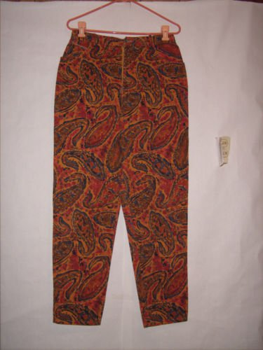 Breeches color patterned denim jeans size 14 tappered leg