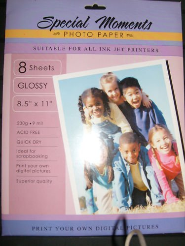 Special Moments Glossy Photo Paper 8.5x11 8 sheets